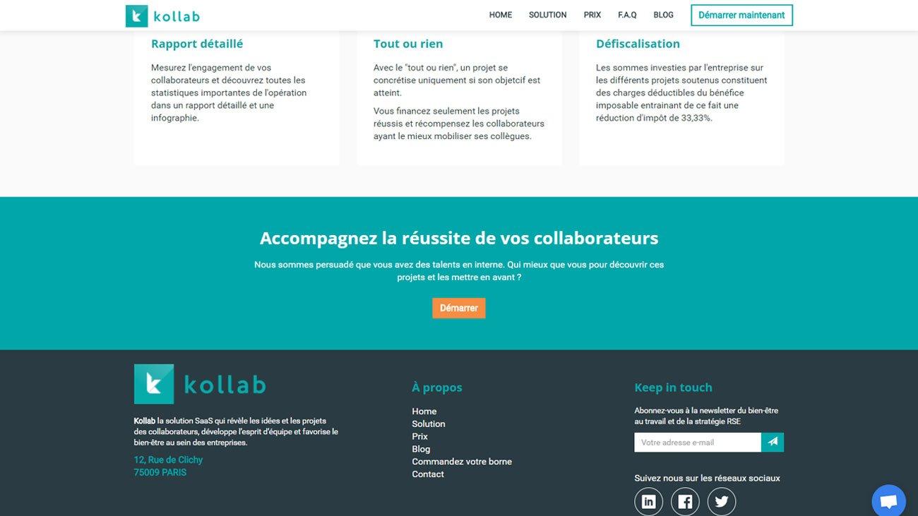 Site internet pour notre Kollab