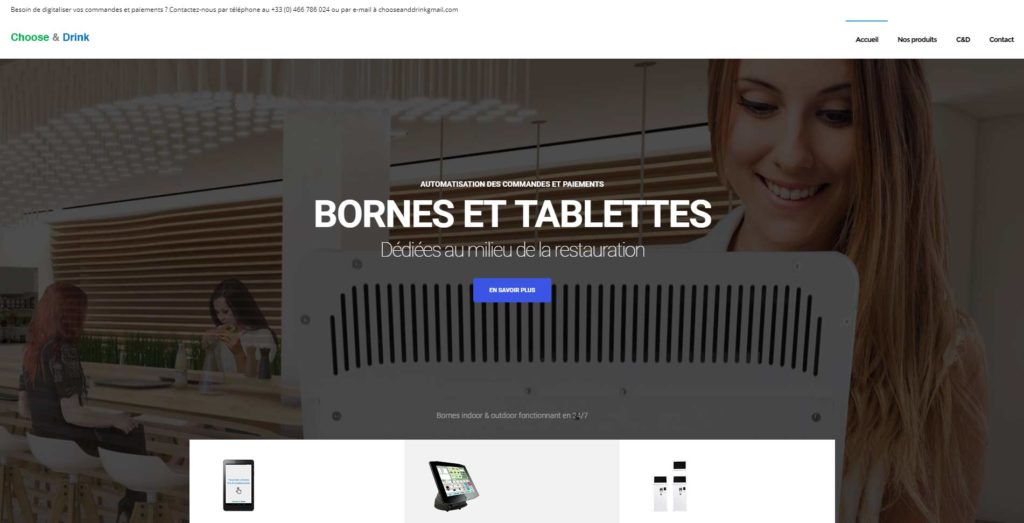 Page d'accueil du site