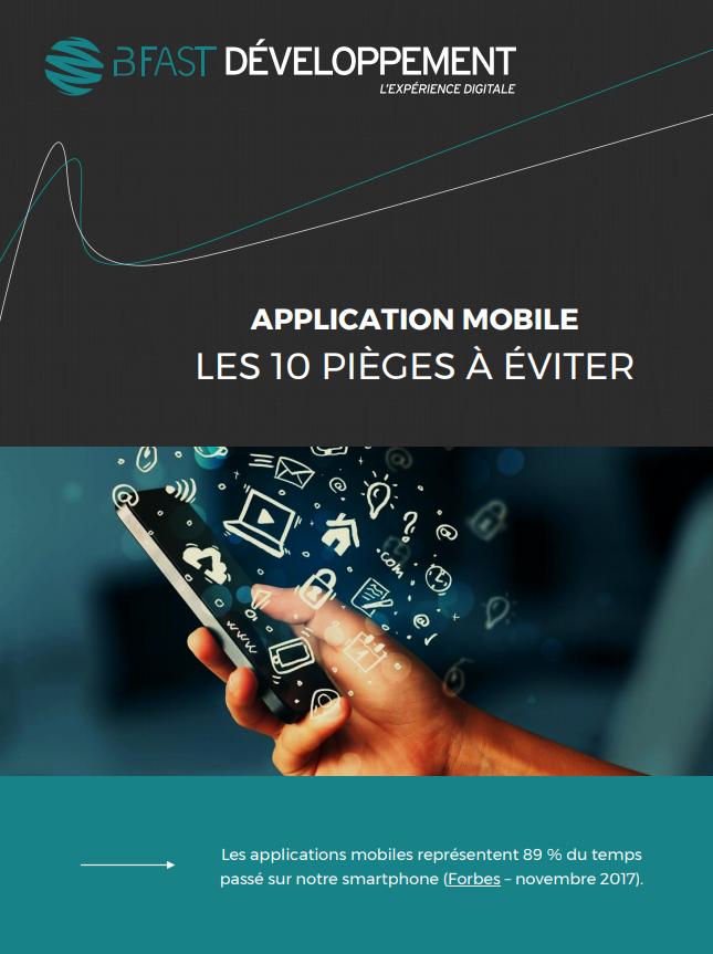 """livre blanc à télécharger """"Application mobile : les 10 pièges à éviter"""""""